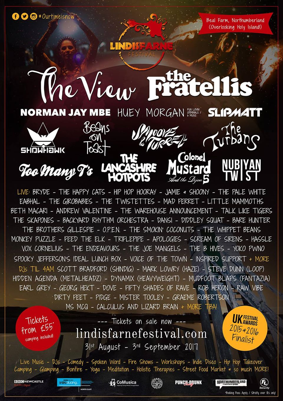 Lindisfarne fest line up 2017