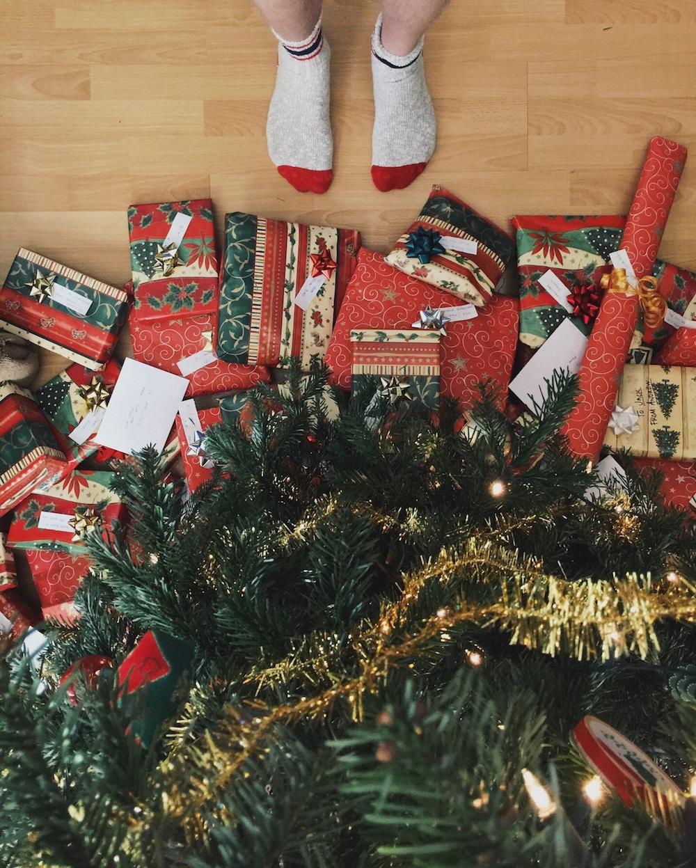 santa's grotto presents